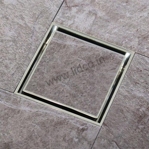 Marble Insert Floor Drain Installation