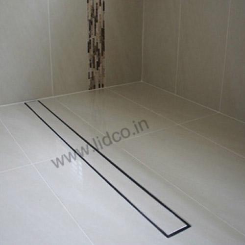 Shower Drain Channel Installation